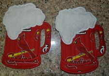 Quilted St Louis Cardinals Beer Mug Coasters