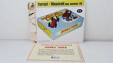 Dinky Toys Atlas Livret + certificat SEULS du Coffret Ferrari Maserati années 50