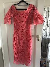Paper Dolls Coral lace Bardot Pencil Dress Size 10 BNWT