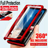 For Samsung Galaxy S6/S7 Edge S8 S9 Note 9 360° Full Cover Case + Tempered Glass