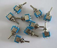 10x DPDT Guitar Mini Toggle Switch 3 Position ON/OFF/ON 6 PIN Car/Boat Switches
