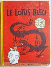 Tintin Le Lotus Bleu B7 bis 1952 HERGE édition Casterman