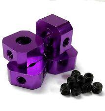 L11494PK SCALA 1/5 17mm x 9.5mm Drive Quadrato Mozzo in Alluminio Lega Rosa x4
