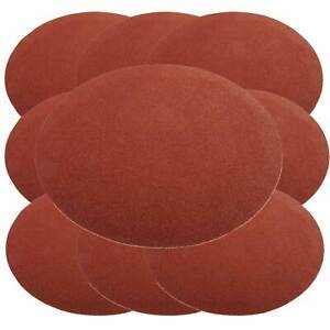 10 x Hook and Loop Sanding Sander Discs Medium Disc 120 Grit 180mm Diameter