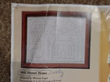 """Creative Circle Candlewicking Kit - Happy Home #0841  8""""x10"""" NEW  open package"""