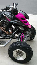 SHOCK COVER,VTT,PROTECTEUR D'AMORTISSEUR, ATV,YAMAHA ,SET DE 3,MONSTER PINK