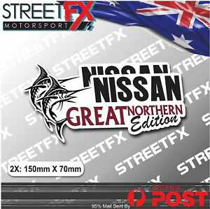 Great Northern Edition Sticker Twin Pack for Nissan 4x4 4WD Beer Ute Offroad