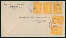 Mayfairstamps Costa Rica 1936 San Jose to Taunton MA cover wwo1627