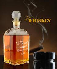 """Whiskyflasche mit Gravur """"Genießer seit"""" (Name + Datum), Whiskeykaraffe, Männer"""