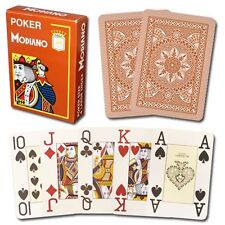 Poker Modiano Orange Playing Cards Deck brand new sealed