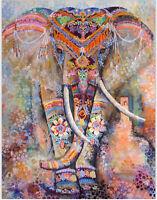Indisch Elefant Mandala Tapisserie Wandteppich Wandbehang Yoga Picknick Matte DE