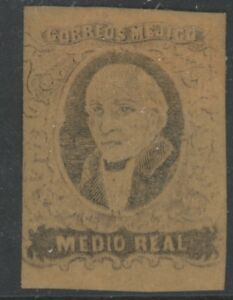MEXICO, MINT, #6a, OG HR, WITHOUT DISTRICT, GREAT CENTERING