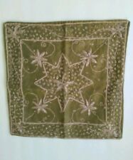 Olive Green Satin Pillow Cover