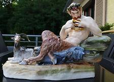 "Nymphenburg Figur "" Syrinx blasender Faun - Pan "" Entwurf Peter Simon Lamine !!!"