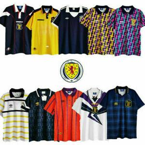 1980-1990 Scotland Home court Away Retro Shirt Men's Football Jersey Fan jersey