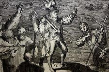 PASAGE DE LOS ESPAÑOLES A CELANDIA. ENGRAVING. ROMEYN DE HOOGHE. HOLLAND(?).1681