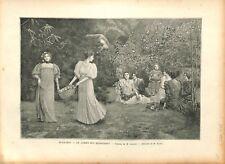 Le jardin des Hespérides Tableau de Auguste François Gorguet 1895 ILLUSTRATION