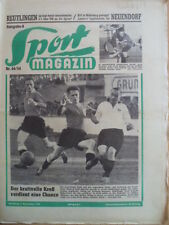 SPORT MAGAZIN KICKER 44A - 1.11. 1954 ** VfB-Reutlingen 1:6 Fürth-Eintracht 0:0