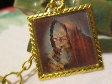 Saint Padre Pio Catholic Cabochon Medal Keychain ~ Capuchin Franciscan Friar