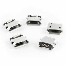 5 Pcs Micro USB Type B Female Socket 180 Degree SMD SMT Jack solder