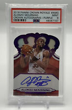 2018-19 Panini Crown Royale Die-Cut Purple Alonzo Mourning Auto SP 01/25 Heat