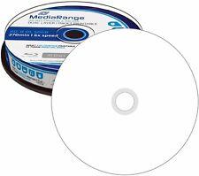 10 MediaRange BD-R DL 50GB 6x Bluray Rohlinge Bedruckbar full printable Spindel