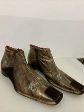Robert Wayne Durango Brown Leather Ankle Boot -  Mens Size 11