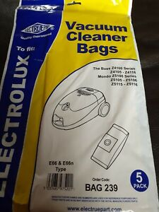 ELECTROLUX VACUUM BAGS ..pack of 5