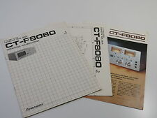 Pioneer CT-F8080 Operating Instructions / circuit diagram / Brochure