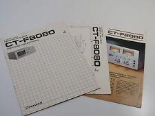 Pioneer CT-F8080 Operating Instructions / circuit diagram / Brochure