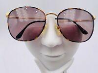 Vintage Fratelli Lozza Endeavor Brown Gold Metal Oval Sunglasses FRAMES ONLY