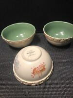 3 GENUINE SONOMA HOMEGOODS ''IN THE GARDEN'' SOUP/CEREAL BOWLS