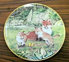 """Franklin Porcelain 1981 The Woodland Year """"The Butterfly Chase in May"""" Plate"""