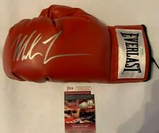 Mike Tyson Autographed Everlast Red Boxing Glove JSA Witnessed COA