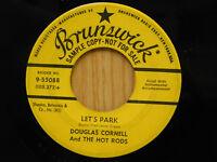 Douglas Cornell 45 Let's Park bw Hey! Cool - Brunswick VG to VG+