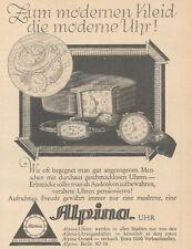 Y6531 ALPINA Uhren -  Pubblicità d'epoca - 1927 Old advertising