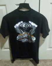Vintage 98 Harley Davidson FATHEAD  Twin Cam 88 Black N.Canton Ohio tee shirt M