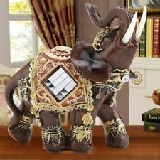 Elephant Sculpture Feng Shui Decor Statue Figurine Crafts M
