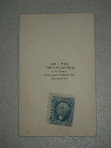 Geo. Washington 2 cent Playing Cards US Inter. Rev. Blue US Postage Stamp Photo