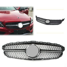 1x Front Mesh Grill Bumper Grille For W205 Benz C-class C63 C180 C200 2015 cl