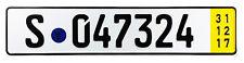 Stuttgart Temporary German License Plate for Mercedes Porsche Unique # NEW