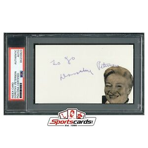 Dorothy Peterson Actress D.1979 Signed 3x5 Index Card PSA/DNA Auto