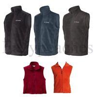 Columbia Sports NEW Mens Size S-3XL Quick Dri Full Zip Fleece Vest Jacket Jumper