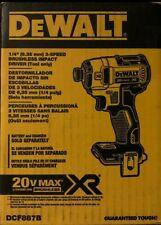DEWALT DCF887B 20-Volt MAX XR 3-Speed 1/4 in Impact Driver Tool, NEW IN BOX
