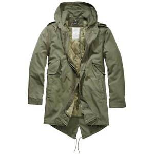 BRANDIT M51 US FISHTAIL PARKA Military Warm Winter Quilted Lining Olive Green