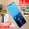 Note10 Pro 8GB+512GB Smartphone 6,8 Zoll handy Android 10 Dual SIM Musikplayer