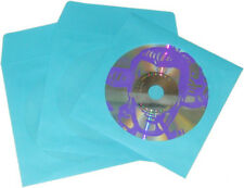 (1000) Blue Paper CD DVD Display Sleeve Window Flap Disc Media Storage #CDIWWFBL