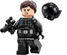 LEGO STAR WARS ROGUE ONE MINIFIGURE JYN ERSO IMPERIAL CREW DISGUISE HAIR 75171