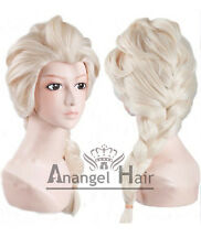 Princess Snow Queen Elsa Cosplay Wig Blonde Costume Wigs Synthetic Long Braided