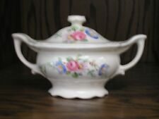 Edwin Knowles Floral Pink Rose Creamer Sugar with Cover